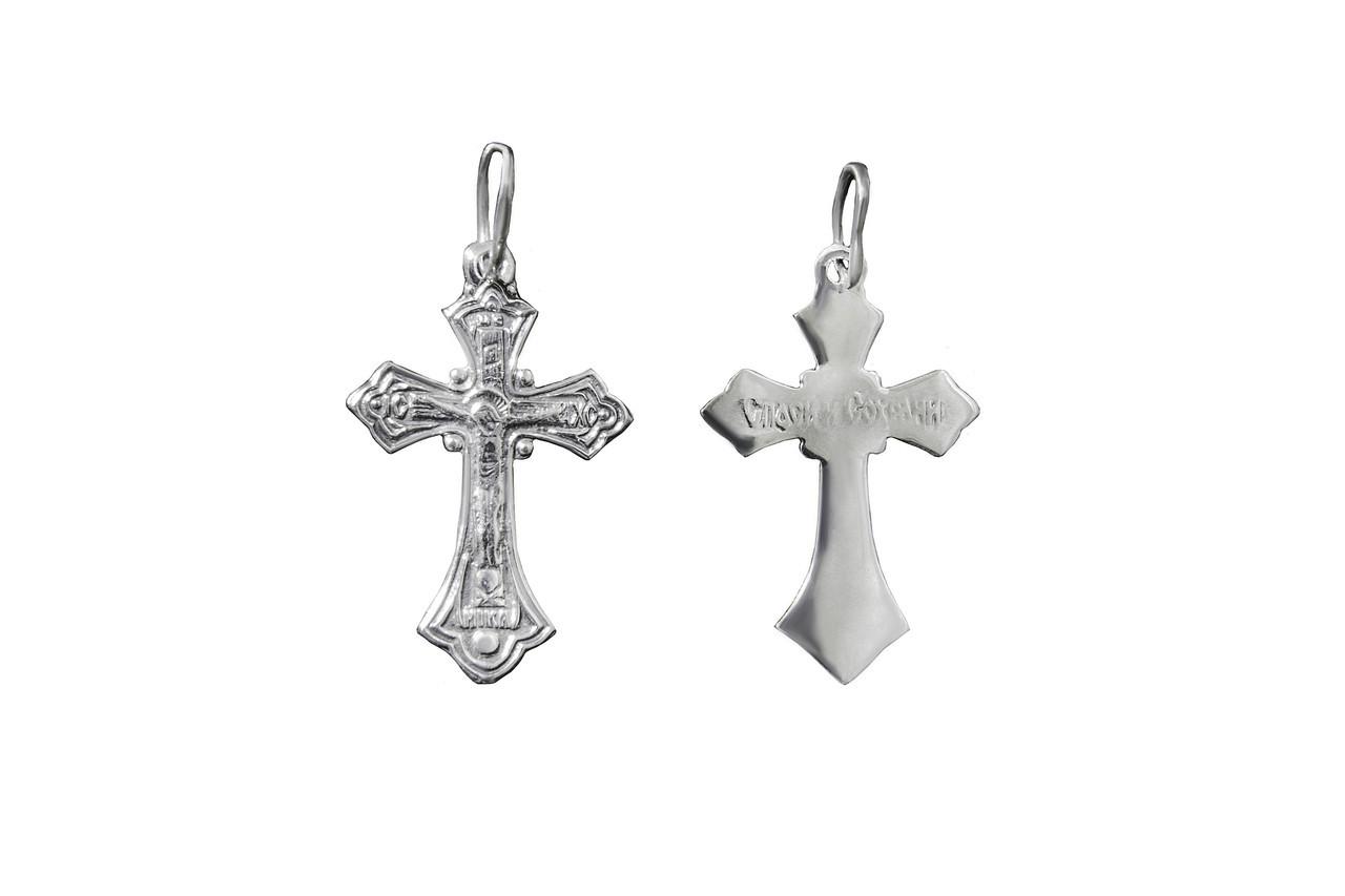 Крестик серебряный арт. 3004