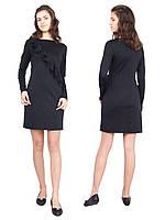 Платье  детское с длинным рукавом   М -1116  рост 128 134 140 146 152 158 164 170 трикотажное черное, фото 1