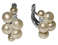 Серебряные серьги с жемчугом арт. 185