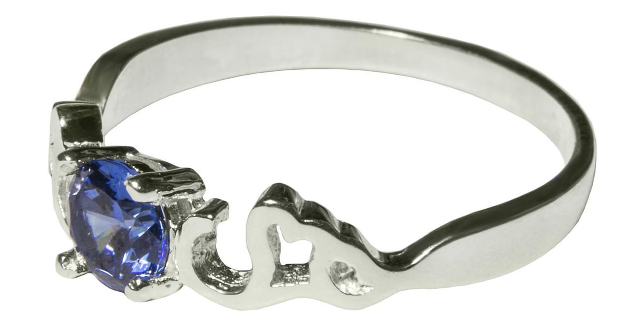 Серебряное кольцо с цирконием арт. 187