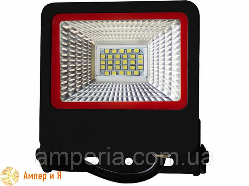 Прожектор светодиодный черный с радиатором NEW EUROELECTRIC LED SMD 20W 6500K