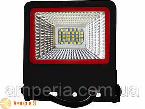Прожектор светодиодный черный с радиатором NEW EUROELECTRIC LED SMD 20W 6500K, фото 2
