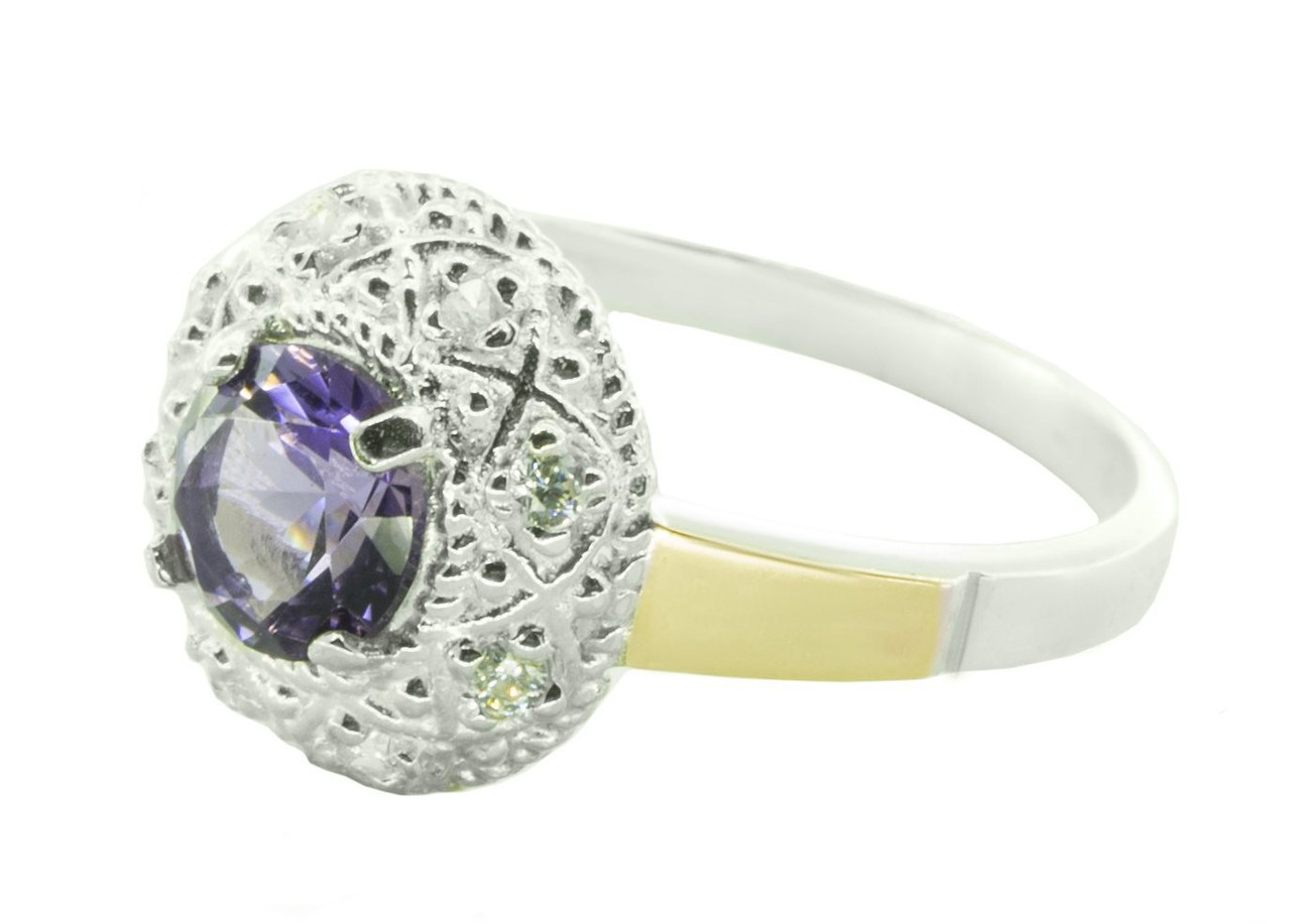 Серебряное кольцо с аметистом арт. 161