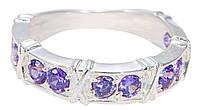 Серебряное кольцо с фиолетовыми цирконами  арт. 214