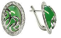Серьги серебряные женские Комодо арт. 114