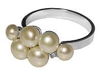 Серебряное кольцо с жемчугом арт. 185