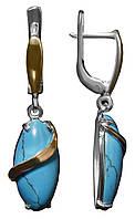 Серебряные серьги арт. 155, фото 1