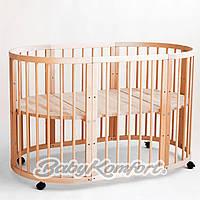 Овальная кроватка трансформер BabyKomfort 8в1