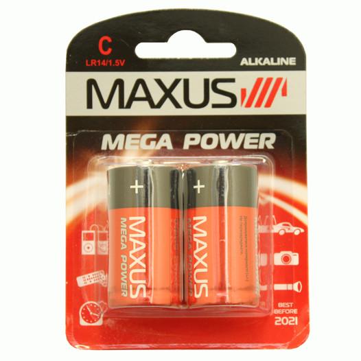 Батарейка алкалиновая Maxus C-C2 1.5V C2P LR14