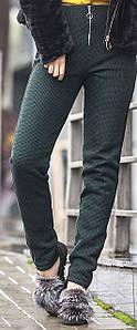 Женские зимние брюки вязка на меху с лампасами, женские зимние брюки оптом от производителя