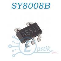 SY8008B, (AB5JJ), DC-DC понижающий преобразователь, 1A, 2.5-5.5V, 1.5MHz, SOT23-5