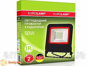 Прожектор светодиодный черный с радиатором NEW EUROELECTRIC LED SMD 50W 6500K, фото 2