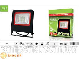 Прожектор светодиодный черный с радиатором NEW EUROELECTRIC LED SMD 50W 6500K, фото 3