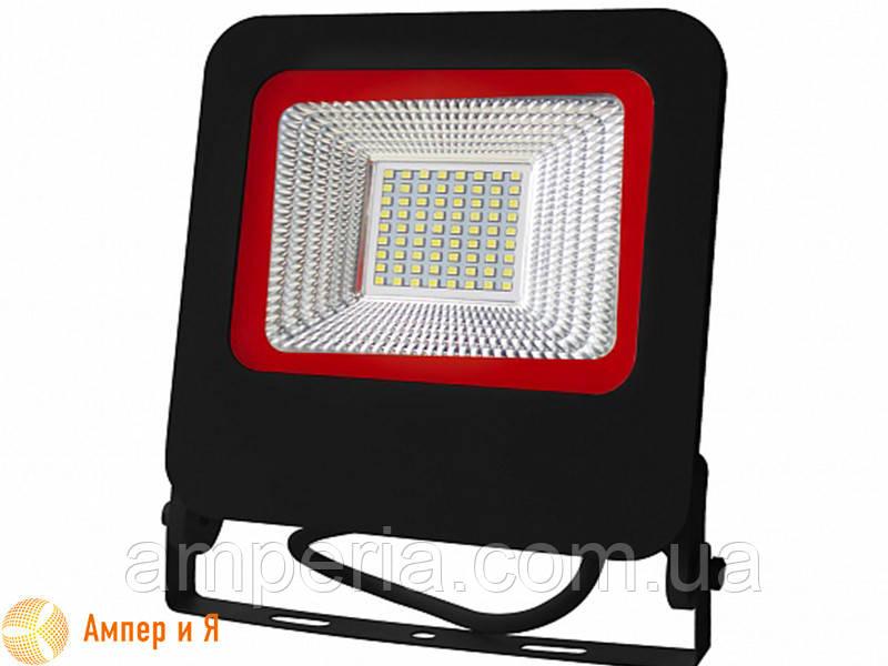 Прожектор светодиодный черный с радиатором NEW EUROELECTRIC LED SMD 50W 6500K