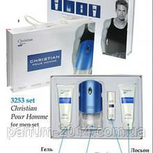 Подарочный набор Christian POUR HOMME (парфюм 100ml + 10ml + гель для душа + гель для тела)