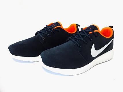 b59f38118402 Женские кроссовки Nike Roshe Run, голубые с оранжевым — купить в ...