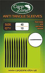 Хвостовик для вертлюга (противозакручиватель) ANTI TANGLE SLEVES 40mm Hard Black (Жесткий)
