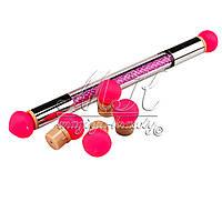 Аэропуффинг, кисть- силиконовый  спонж для градиента ЖЕМЧУГ  (aeropuffing или ombre stick), набор