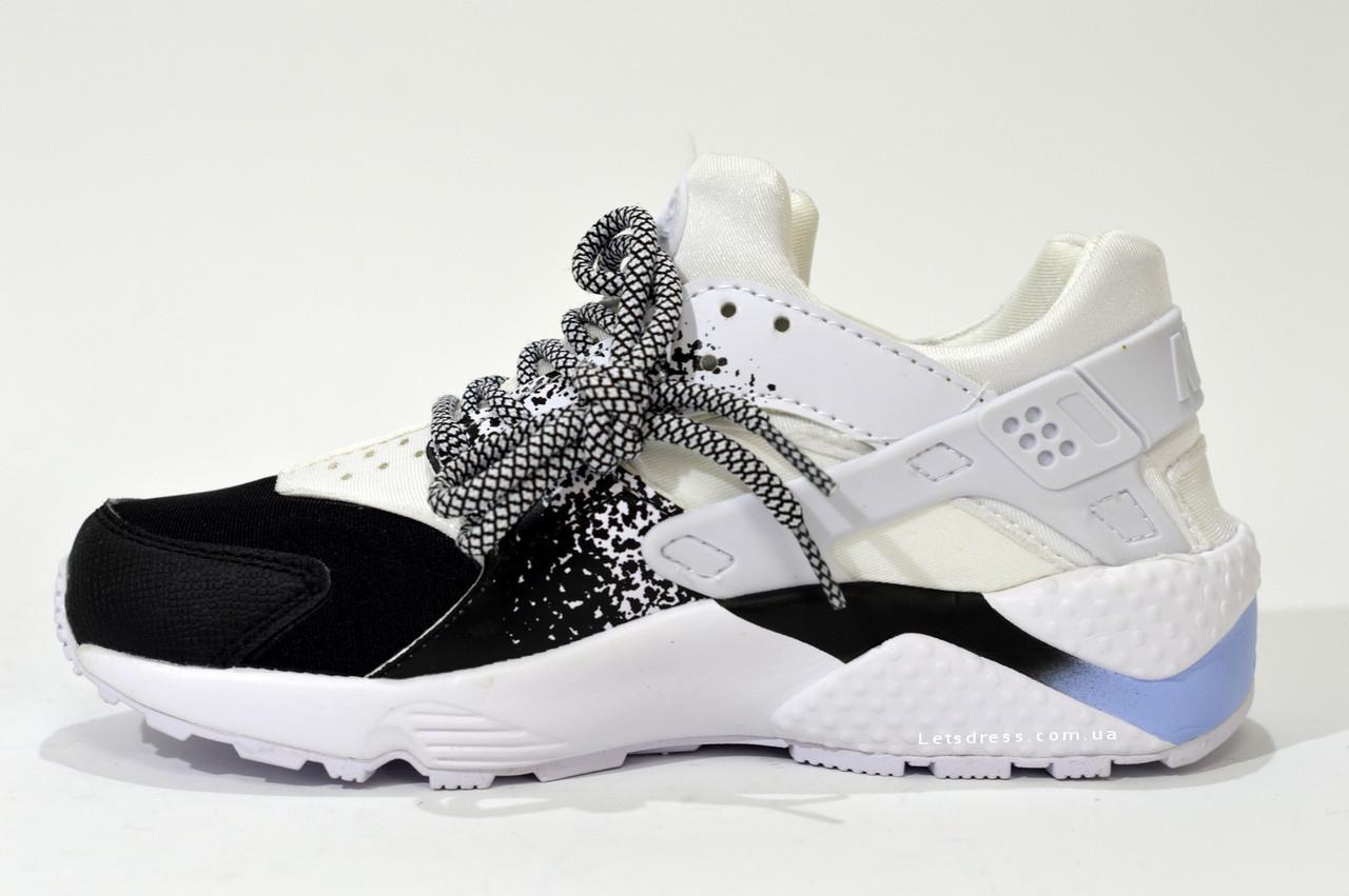 2de3c7d6 Кроссовки Nike Air Huarache Black женские подростковые белые черные ...