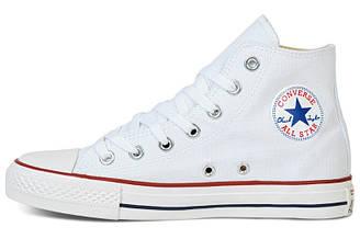 Оригинальные женские и подростковые кеды Converse all star chuck taylor конверс ол стар белые высокие