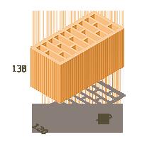 Керамический блок ТеплоКерам 2,12 НФ