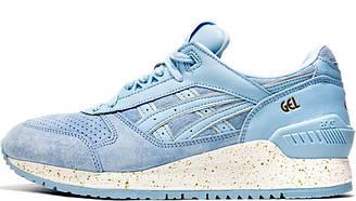 Кроссовки Asics Crystal Blue женские подростковые, Асикс, Gel Respector, tiger, h6e3l