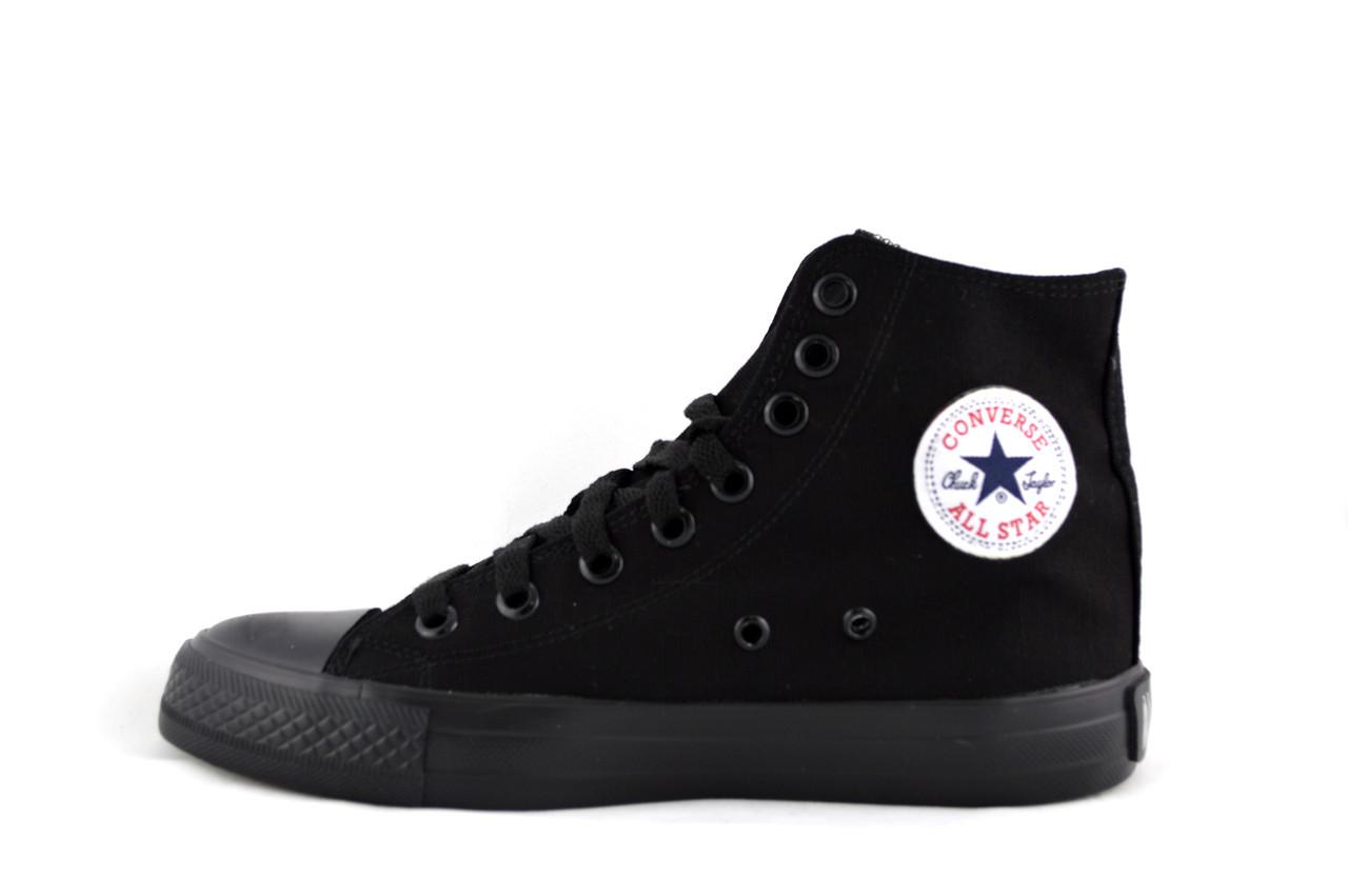 Женские и подростковые кеды Converse all star chuck taylor конверс ол стар  чёрные высокие - Интернет 28751959c7173