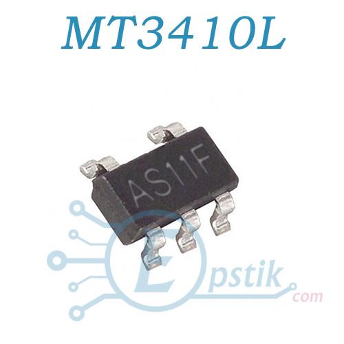 MT3410L, (AS11F), DC-DC понижающий преобразователь, 1.3A, 2.3-6V, 1.5MHz, SOT23-5