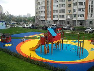 Резиновое покрытие Teking Kids 2S EPDM для детских площадок, фото 2