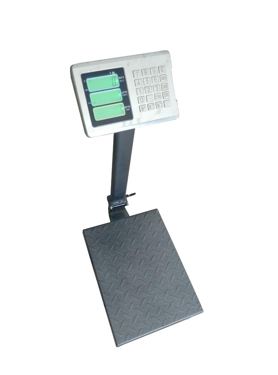 Товарные рифленные весы  ВПЕ-405-ДВ-Э 300кг (400х500мм)
