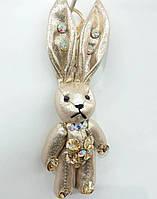 164 Брелоки Hade made, игрушка брелок заяц, брелки для сумок и ключей, подарки оптом. 17 см