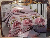 Комплект постельного белья евроразмер Роза, ранфорс
