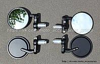 Мото зеркала в торец руля (круглые), фото 1