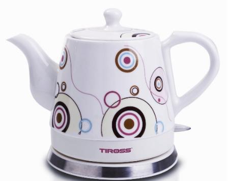 Електрочайник керамічний Tiross TS-491 1.2 л