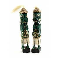 Статуэтки деревянные резные Папуасы пара