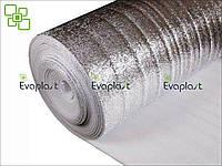 Подложка под теплый пол ЛАЙТ 3 мм фольгированная Evaplast пенополиэтилен НПЭ, фото 1