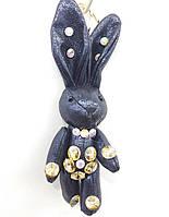 162 Hade made- игрушка брелок заяц, брелки для сумок и ключей, подарки оптом. 17 см