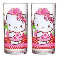 Набор высоких стаканов Luminarc Disney Hello Kitty Nordic Flower 2 шт 300 мл H5533