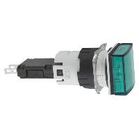 XB6CV3BB сигнальная лампа 16мм 12-24В зеленая квадратная