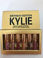 Набор матовых помад Kylie (Кайли) Birthday Edition 6в1, B