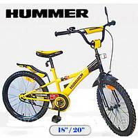 """Велосипед HUMMER 18"""" 111809 желтый с черным"""