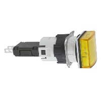 XB6CV5BB сигнальна лампа 16мм 12-24В жовта квадратна