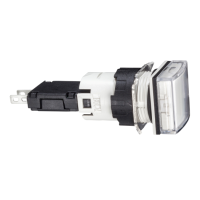 XB6CV1BB Сигнальна лампа 16мм 12-24В біла квадратна