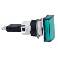 XB6DV3BB Сигнальна лампа 16мм 12-24В зелена з діодом