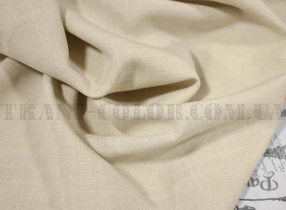 Костюмная ткань габардин лён светло-бежевый, фото 2