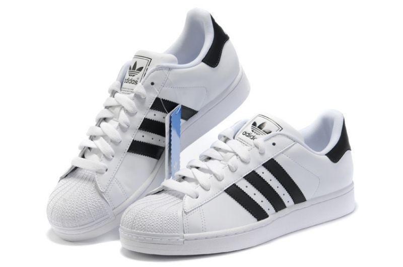 Кроссовки женские Adidas Superstar White-Black   Адидас Суперстар женские белые
