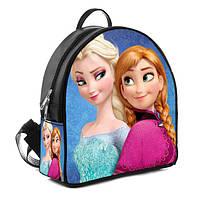 Черный детский рюкзак с принтом Холодное сердце