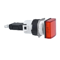 XB6CV4BB Сигнальна лампа 16мм 12-24В червона квадратна