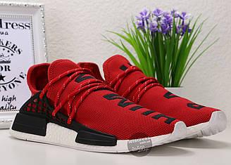 Кроссовки мужские Adidas Pharrell NMD HUMAN RACE Original Red | Адидас Фарель НМД Рейс красные