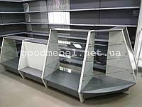 Универсальные торговые прилавки, витрины из ДСП и стекла, металлические стеллажи для магазина ТО-130